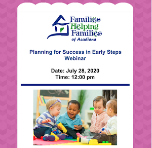 􏰓􏰍􏰔􏰄Planning for Success in Early Steps - Webinar