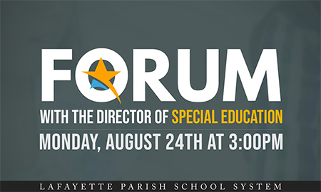 LPS Forum with the director of Special Education