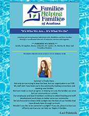 Families Helping Families Summer Newsletter 2019